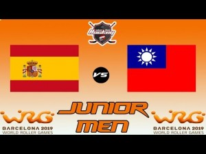 SPAIN VS CHINESE TAIPEI JUNIOR MEN WORLD ROLLER GAME 2019
