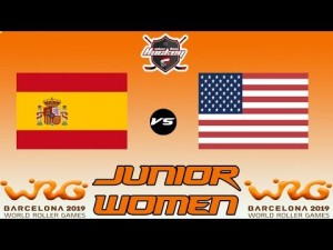 ESPAÑA VS USA JUNIOR WOMEN WORLD ROLLER GAME 2019