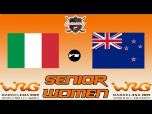 ITALY VS NEW ZEALAND SENIOR WOMEN WORLD ROLLER GAME 2019
