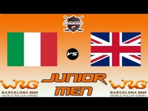 ITALY VS GREAT BRITAIN JUNIOR MEN WORLD ROLLER GAME ( ONLY 1 PART ))