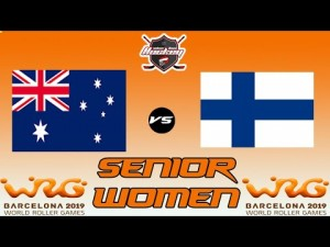 AUSTRALIA VS FINLAND WOMEN SENIOR WORLD ROLLER GAME 2019
