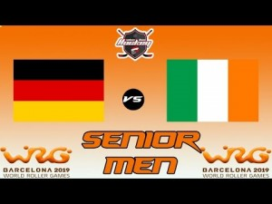 GERMANY VS IRELAND SENIOR MEN WORLD ROLLER GAME 2019